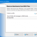 Remove Attachments from MSG Files freeware screenshot