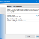 Export Outlook to PST freeware screenshot