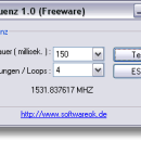 CpuFrequenz freeware screenshot