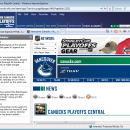 NHL Vancouver Canucks IE Browser Theme freeware screenshot