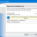 Export Auto-Complete Lists for Outlook freeware screenshot