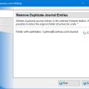 Remove Duplicate Journal Entries freeware screenshot