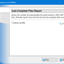 Auto-Complete Files Report for Outlook freeware screenshot