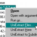 Universal Extractor freeware screenshot