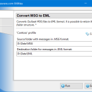 Convert MSG to EML for Outlook freeware screenshot
