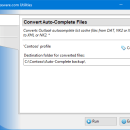 Convert Auto-Complete Files for Outlook freeware screenshot