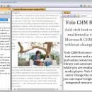 Vole CHM Reviewer freeware screenshot