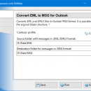 Convert EML Files to Outlook MSG freeware screenshot