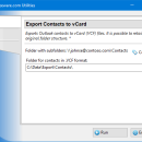Export Contacts to vCard for Outlook freeware screenshot