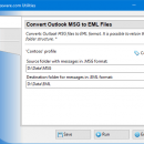 Convert Outlook MSG to EML Files freeware screenshot
