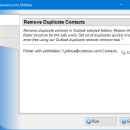 Remove Duplicate Contacts for Outlook freeware screenshot
