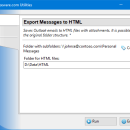 Export Messages to HTML for Outlook freeware screenshot