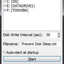 Prevent Disk Sleep freeware screenshot