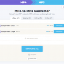 MP4 to MP3 Converter freeware screenshot