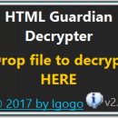 HTML Guardian Decrypter freeware screenshot