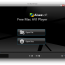 Aiseesoft Free AVI Player for Mac freeware screenshot