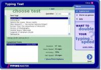 TypingMaster Typing Test freeware screenshot