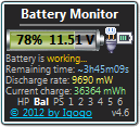 Battery Monitor freeware screenshot