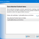 Save Attached Outlook Items freeware screenshot